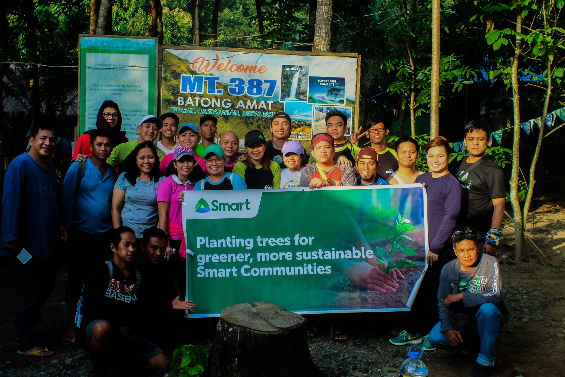 Smart employees lead tree-planting activity in Nueva Ecija