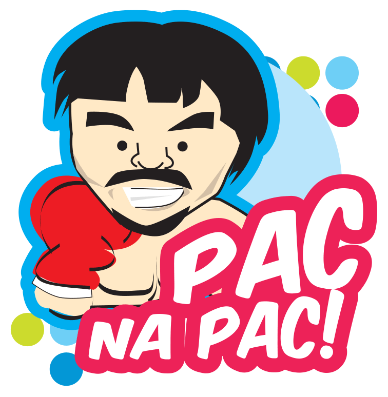 Pacquiao fever goes digital say it with a sugodmanny sticker