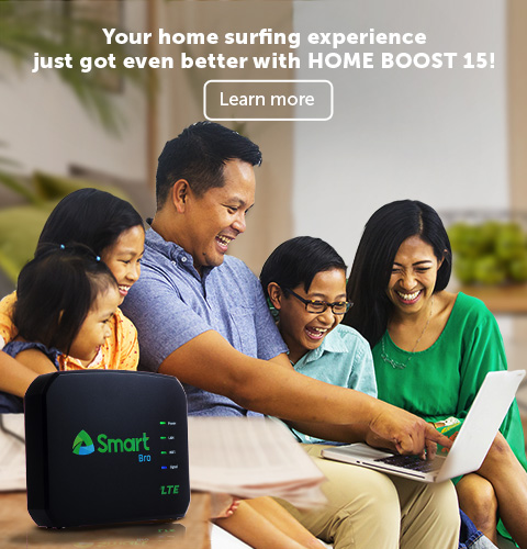 Boost your internet speed for only 15 pesos. Learn more.